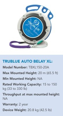 TRUBLUE AUTO BELAY XL
